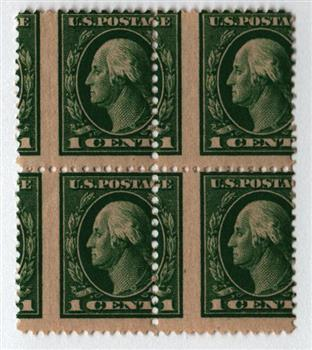 1912 1c Washington, green, single line watermark