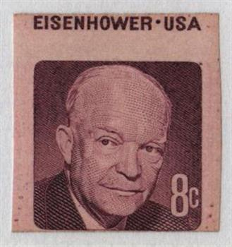 1971 8c Eisenhower Imperf For Sale At Mystic Stamp Company