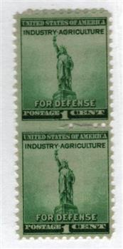 1940 1c Statue of Liberty, blue green
