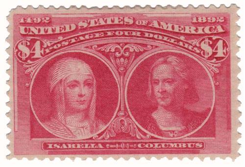 1893 $4 Isabella and Columbus
