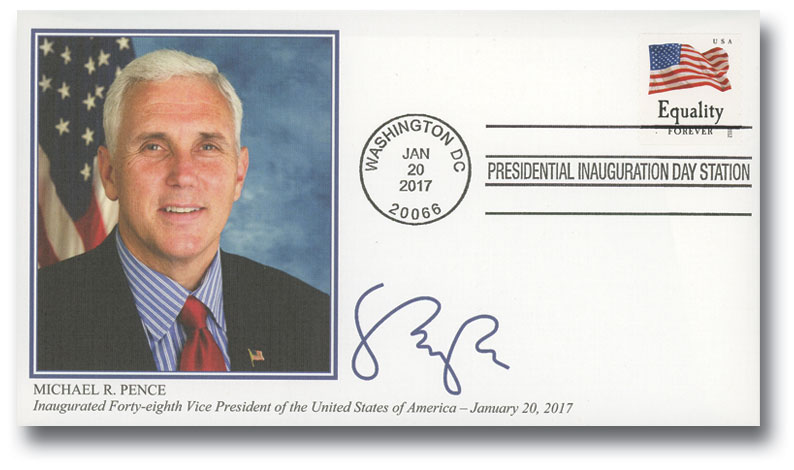 2017 Inauguration Cover - Vice-President Michael Pence