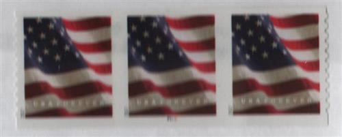 2017 First-Class Forever Stamp - U.S. Flag (Ashton Potter, coil)