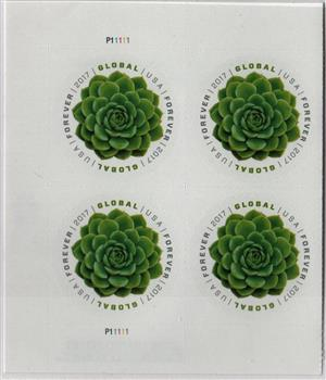 2017 Global Forever Stamp Green Succulent For Sale At