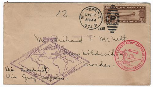 1930 C14 on First Flight Cover