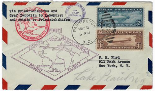 1930 C14-15 on First Flight Cover