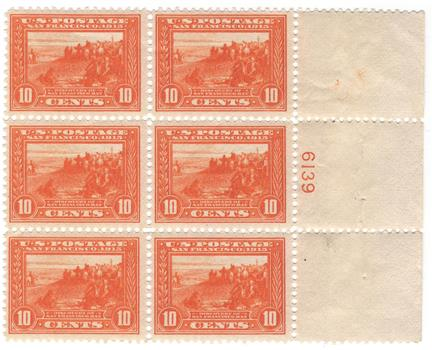 1913 10c Panama-Pacific Exposition: Discovery of San Francisco Bay