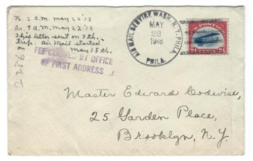 1918 C3 on 7th Flight Cover May 22, 1918