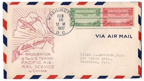 1937 20c & 50c Trans-Pacific