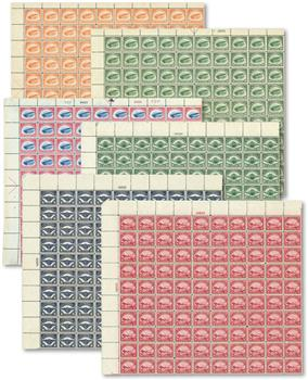 1918-23 First Airmail Stamps, set of 6