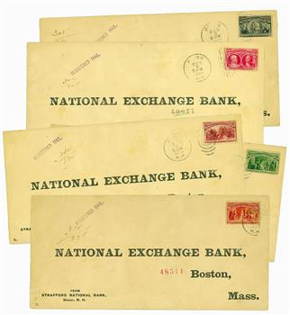 Complete Set of Dollar-Value Columbians On Registered Covers