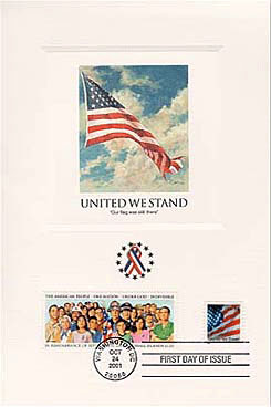 2001 United We Stand Proofcard in Folder