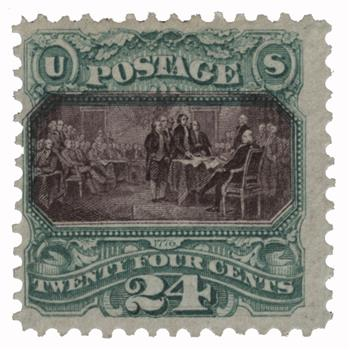 1869 24c Declaration of Independence without grill
