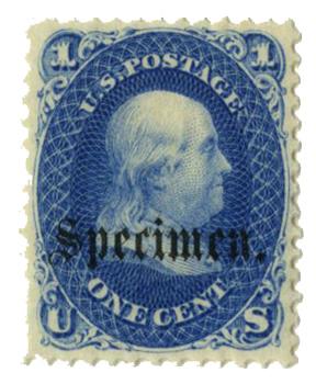1861-66 1c blue