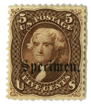 1861-66 5c brown