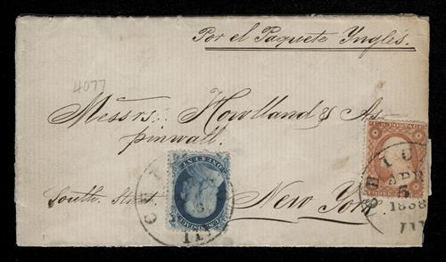 1857-61 1c Franklin, perf 15