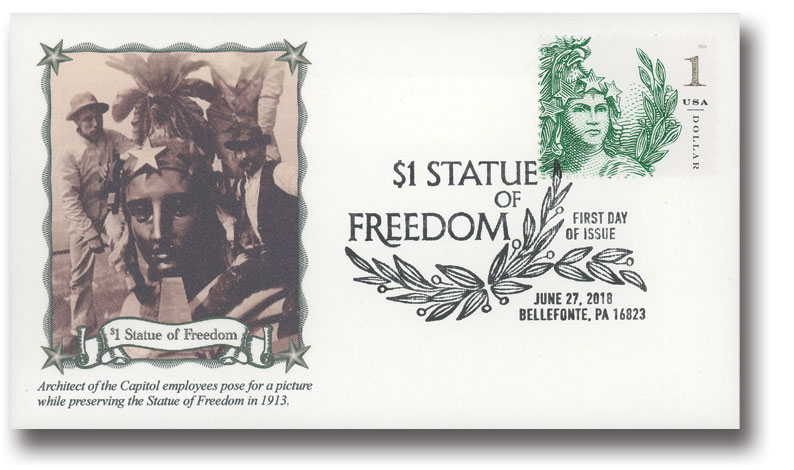 2018 $1 Statue of Freedom