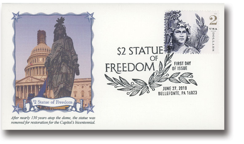 2018 $2 Statue of Freedom