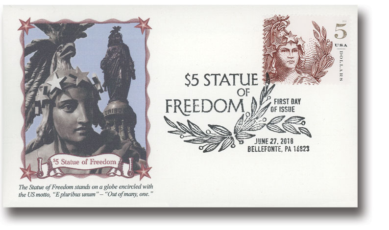2018 $5 Statue of Freedom