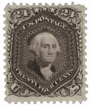 1875 24c Washington, deep violet