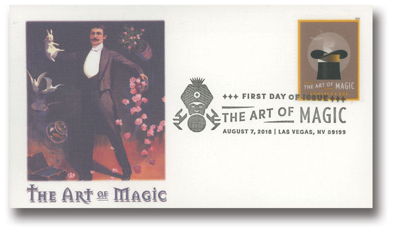 2018 First-Class Forever Stamp - The Art of Magic souvenir sheet of 3
