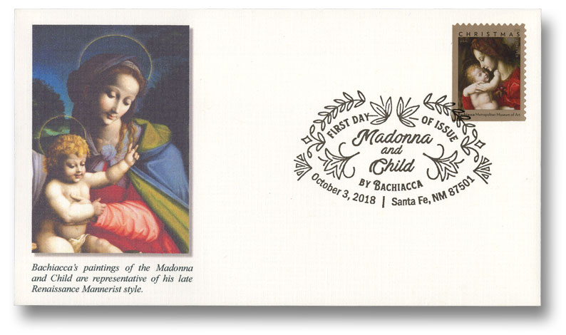 2018 First-Class Forever Stamp - Madonna and Child by Bachiacca