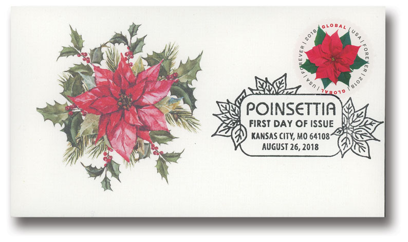 2018 $1.15 Global Forever: Poinsettia