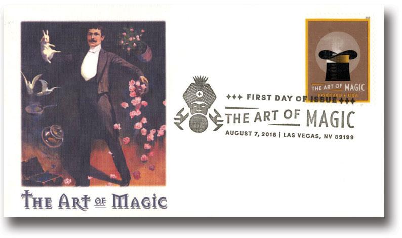 2018 50c The Art of Magic souvenir sheet