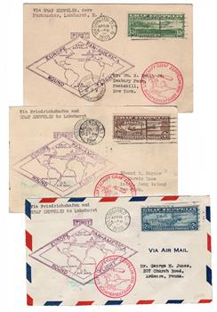 1930 Graf Zeppelins, 3 stamps