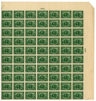 1914 1c Panama-Pacific Exposition: Balboa, green, perf 10