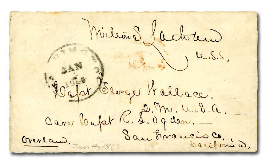1863 Milton S. Latham Cover with Five Page Autographed Letter