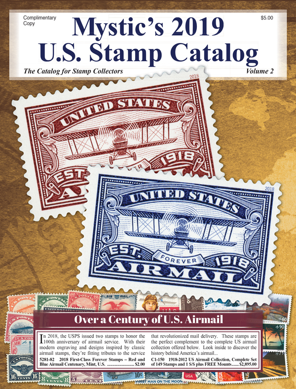 Mystic's FREE US Stamp Catalog